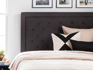 lucid Upholstered Headboard with Diamond Tufting  Multiple Colors