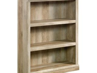 Sauder Select 3 Shelf Bookcase  lintel Oak   MISSING AT lEAST 3 WOOD PIECES  THE HARDWARE  AND THE INSTRUCTIONS