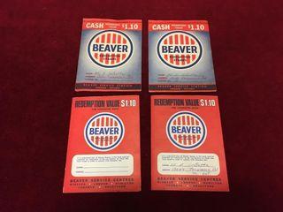 4 Beaver Redemption Stamps Booklets