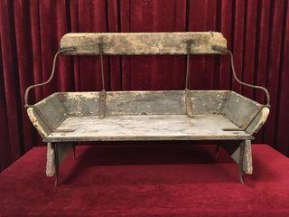 Antique Farm Wagon Wood Bench Seat