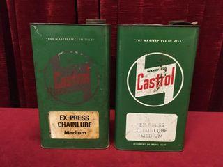2 Castrol 1 Gallon Ex Press Chain lube Can