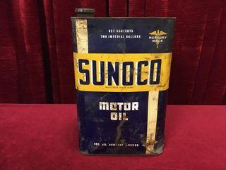 Sunoco 2 Gallon Oil Can   Full