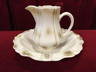 Calif USA H17 Ceramic Pitcher   Wash Bowl