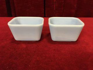 2 Pyrex Canada 501 Delphite Refrigerator Dishes