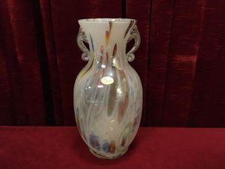 Murano Italy 13  Art Glass Vase