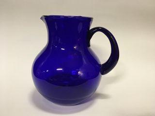 Cobalt Blue Glass Pitcher