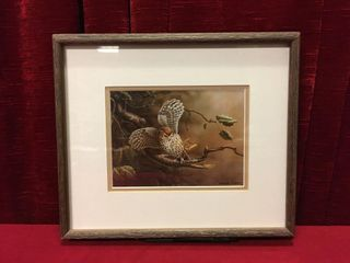 Michael Dumas Owl with Butterfly Print