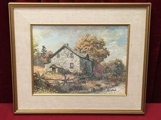 Keirstead Snook Farmhouse Print  c 1983