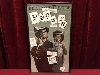 1987 The Grand Theatre london  Papers Poster Note