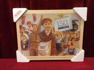london Free Press 150 Years Plak It   20  x 15 5