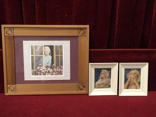 3 Girl Prints 18  x 15    6  x 7 5