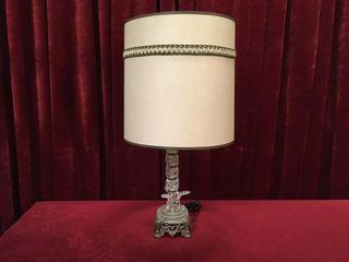 Vintage Brass   Crystal 25 5  lamp