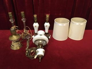 5 Vintage lamps   1 Wall lamp