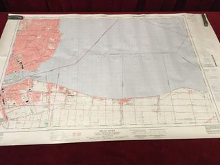 Belle River Topographic Map 40  x 25 5
