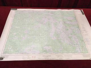 Sioux Narrows Ontario Topographic Map 36  x 25 5