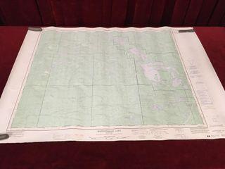 Maniigotagan lake Manitoba Topographic Map