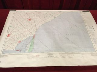 Ridgetown Ontario Topographic Map 40  x 28