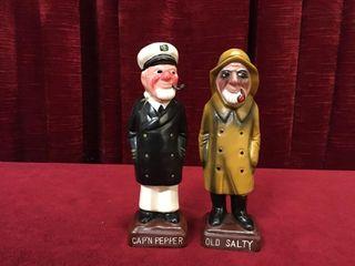Cap n Pepper   Old Salty 6  Ceramic Shaker Set