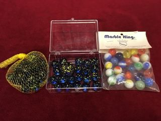 3 lots of Various Glass Marbles