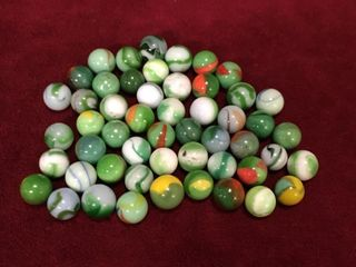 50 Vintage West Virginia Swirl Marbles