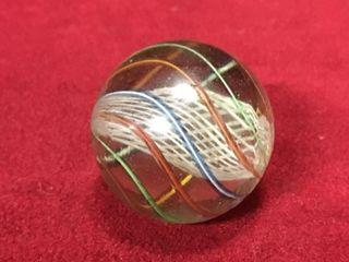 Antique German Candy Stripe letticinio Core Marble