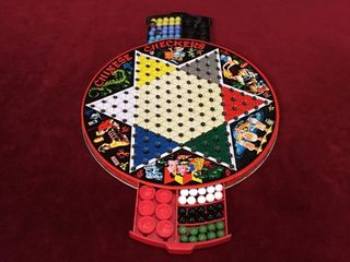 1950s Tin Reversible Chinese Checkers Pixie Game