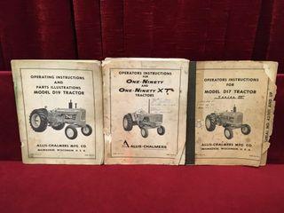 3 Vintage Allis Chalmers Manuals