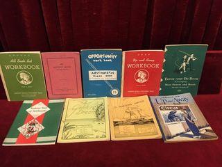 9 Vintage Children s School Work Books