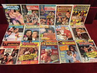 15 1980 90s Pro Wrestling Magazines