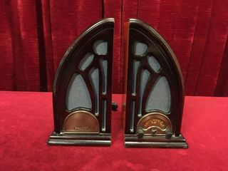 Philco Cathedral Radio Bookends   Note