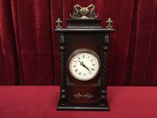 Ornamental Quartz Mantel Clock w  Storage