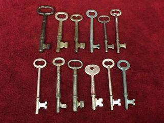 12 Vintage   Antique Skeleton Keys