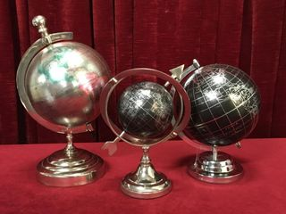 1 4 5    2 8  World Globes