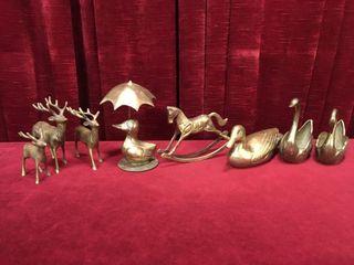 8 Brass Figures
