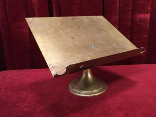 Antique Brass Book Stand Engraved 1901