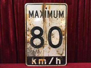 Retired Steel Highway Sign 23 5  x 35 5