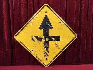 Retired Steel Highway Sign 32  x 32