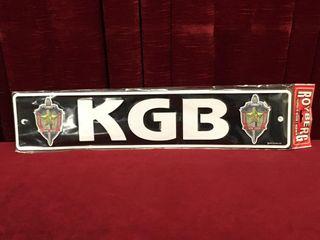 KGB Tin license Plate   Repro 20 5  x 4 25