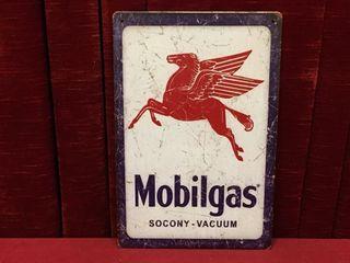 Mobilgas Tin Sign   Repro 8  x 12