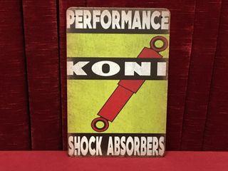 Koni Shock Absorbers Tin Sign   Repro 8  x 12