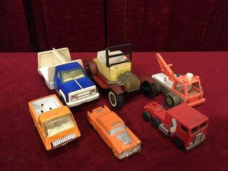 6 Old Toy Cars   Trucks