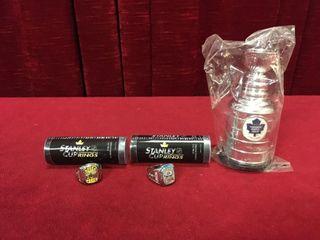 2 Replica Stanley Cup Rings   Mini Stanley Cup