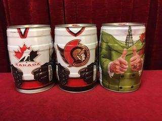 3 Molson Canadian Hockey Bubba Kegs