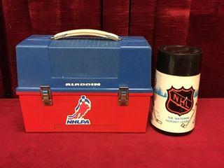 1970s Aladdin NHlPA lunchbox   Thermos