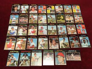 38 1971 Topps Baseball Cards