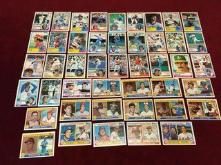 45 1983 Topps Star Baseball Cards