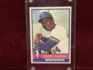 1976 Hank Aaron Topps Baseball Card