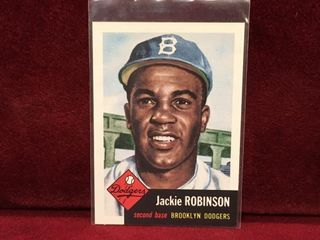 1953 Jackie Robinson Topps Baseball Card   Reprint
