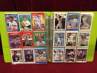 300  Various Baseball Cards w  Binder