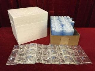 Styrofoam Box   26 Cryopaks   13  x 10 5  x 11